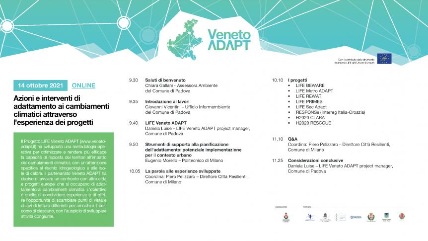 Conferenza LIFE Veneto Adapt del 14 ottobre 2021